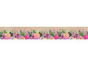 WB8240 Samolepicí bordura, šíře 14 cm Květiny, 14 x 500 cm