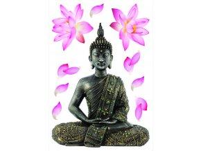 SM3447 Samolepicí dekorace Budda, 42,5 x 65 cm