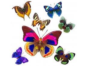 SS3854 Samolepicí dekorace Motýli, 30 x 30 cm