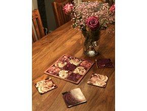 KP103 Korková podložka 25 x 25 cm, růže vintage