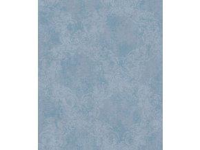 Vliesová tapeta Rasch 463514 kolekce Freundin 3, modrá s ornamentem