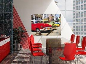 AG Design 1 dílná fototapeta CUBA CARS FTNM 2603, 160 x 110 cm vlies