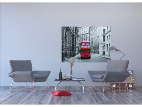 AG Design 1 dílná fototapeta LONDON BUS FTNM 2614, 160 x 110 cm vlies