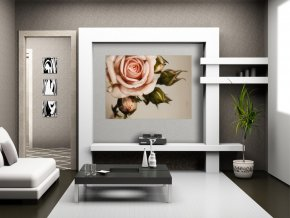 AG Design 1 dílná fototapeta PINK ROSE FTNM 2620, 160 x 110 cm vlies