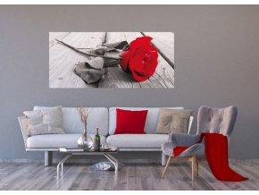 AG Design 1 dílná fototapeta RED ROSE FTNH 2717, 202 x 90 cm vlies