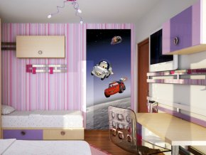 AG Design 1 dílná fototapeta CARS IN SPACE FTDNV 5431, 90 x 202 cm vlies