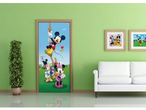AG Design 1 dílná fototapeta MICKEY ON ROPE FTDNV 5458, 90 x 202 cm vlies