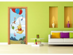 AG Design 1 dílná fototapeta WINNIE POOH FLYING FTDNV 5461, 90 x 202 cm vlies