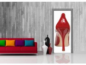 AG Design 1 dílná fototapeta RED SHOE FTNV 2814, 90 x 202 cm vlies