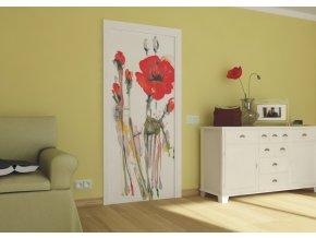 AG Design 1 dílná fototapeta ART POPPY FTNV 2829, 90 x 202 cm vlies