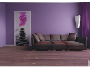 AG Design 1 dílná fototapeta STONES AND ORCHID FTNV 2857, 90 x 202 cm vlies