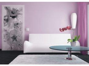 AG Design 1 dílná fototapeta BLACK AND WHITE FLOWER FTNV 2863, 90 x 202 cm vlies