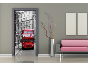 AG Design 1 dílná fototapeta LONDON BUS FTNV 2898, 90 x 202 cm vlies