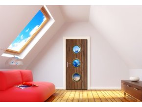 AG Design 1 dílná fototapeta SHIP'S WINDOWS FTNV 2902, 90 x 202 cm vlies