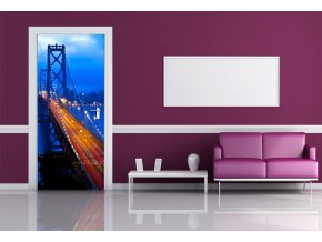 AG Design 1 dílná fototapeta NIGHT BRIDGE FTNV 2903, 90 x 202 cm vlies