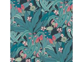 Vliesová tapeta na zeď Rasch 538939, kolekce Club Botanique, 0,53 x 10,05 m