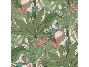 Vliesová tapeta na zeď Rasch 538953, kolekce Club Botanique, 0,53 x 10,05 m