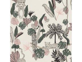 Vliesová tapeta na zeď Rasch 540338, kolekce Club Botanique, 0,53 x 10,05 m