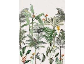 Vliesová panel s digitálním tiskem na zeď Rasch 539172, kolekce Club Botanique, 2,80 m x 2,00 m