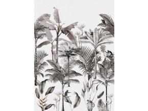 Vliesová panel s digitálním tiskem na zeď Rasch 539189, kolekce Club Botanique, 2,80 m x 2,00 m