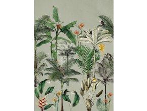 Vliesová panel s digitálním tiskem na zeď Rasch 539196, kolekce Club Botanique, 2,80 m x 2,00 m