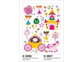 K0806 Samolepicí dekorace PRINCESS BIG  65 x 85 cm