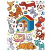 K1050 Samolepicí dekorace WALL STICKER DOMESTIC PETS 65 x 85 cm