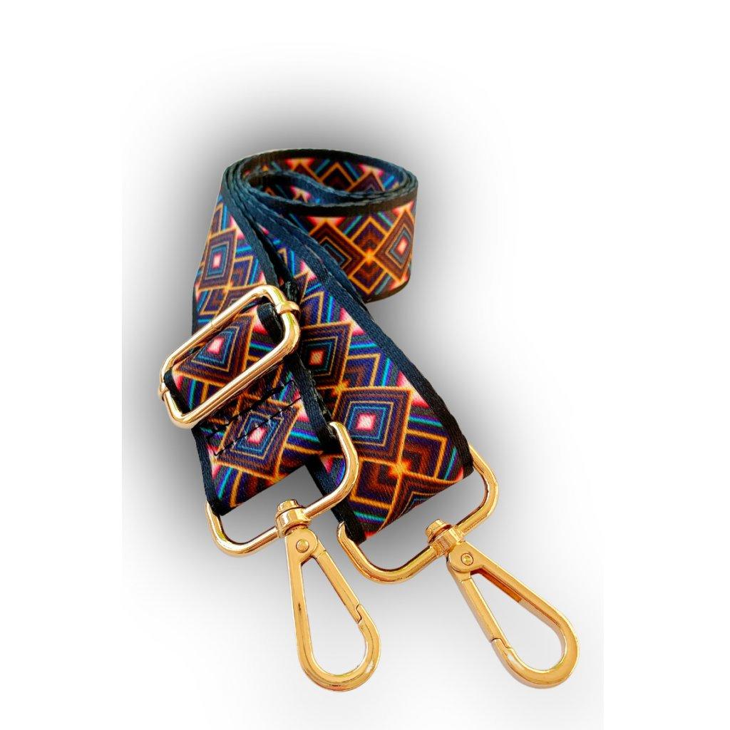 Dekorativní popruh ke kabelce barevný