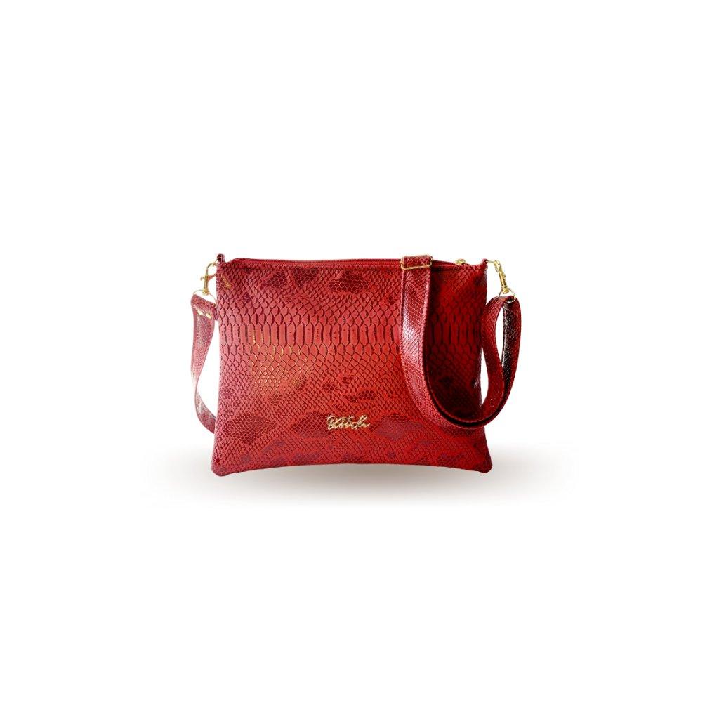 Malá červená crossbody kabelka