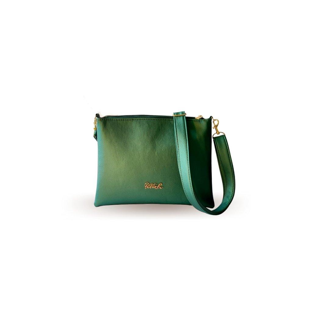Malá smaragdová crossbody kabelka