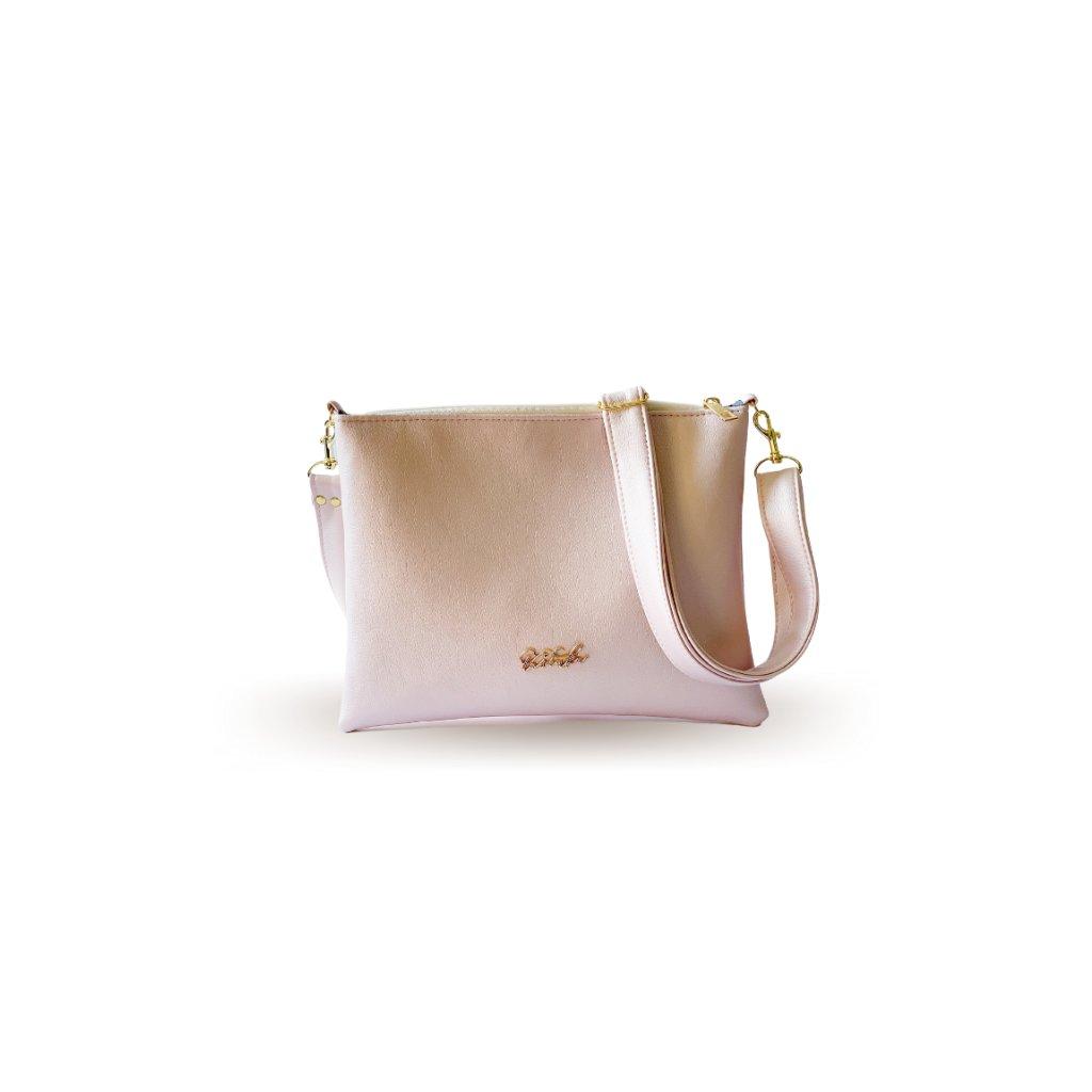 Malá perleťová crossbody kabelka