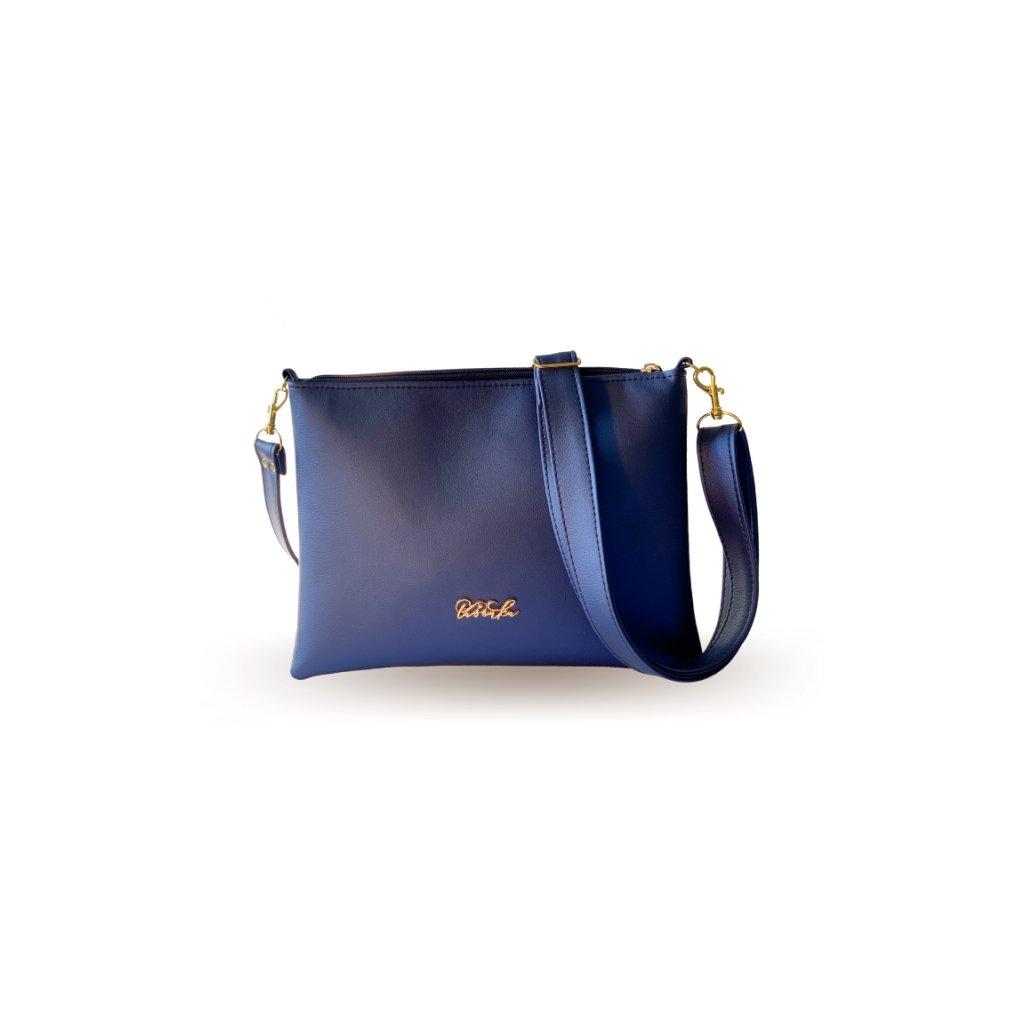 Malá modrá crossbody kabelka