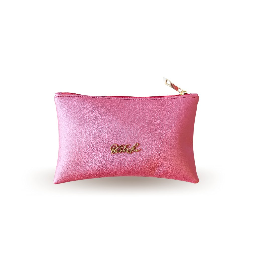 Růžová kosmetická taštička