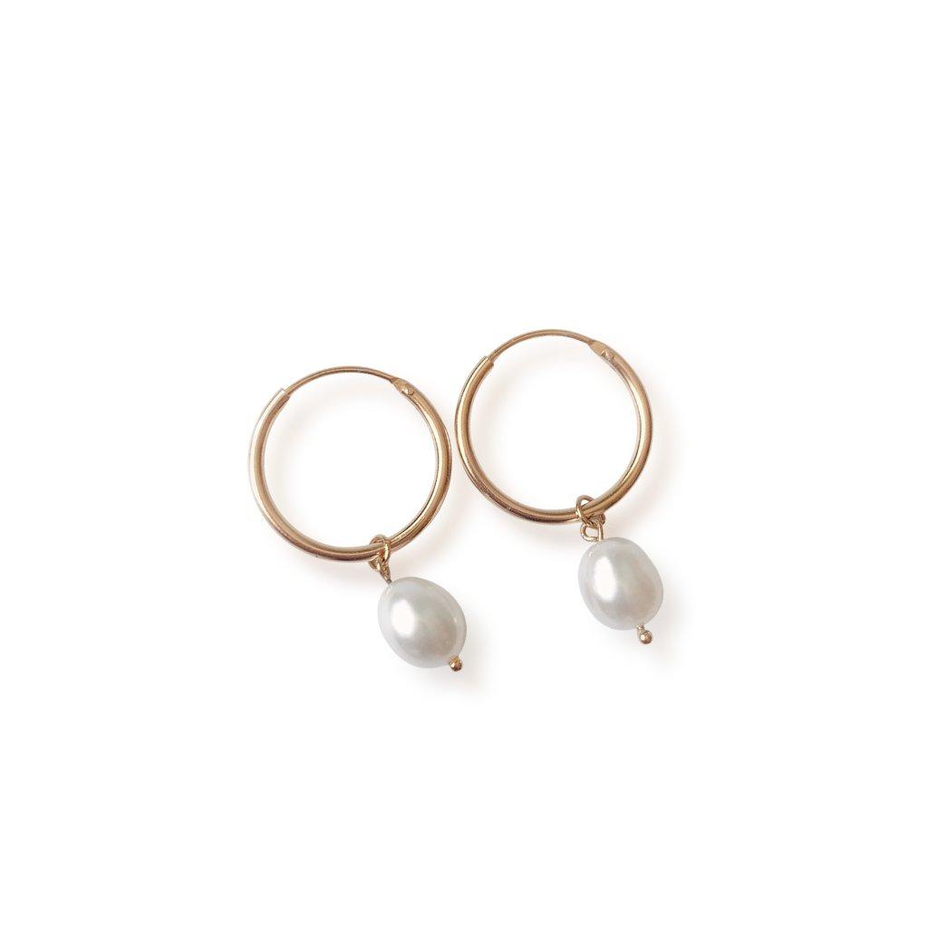 Stříbrné náušnice Freshwater pearl