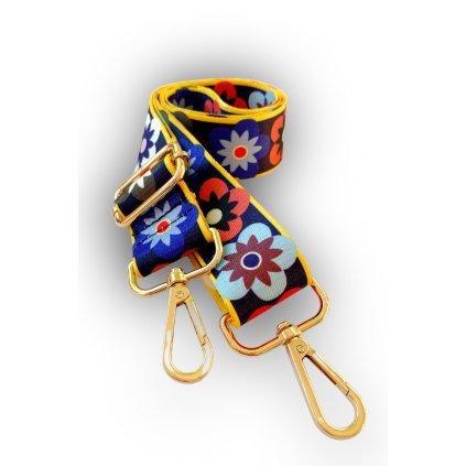 Dekorativní popruh ke kabelce květy