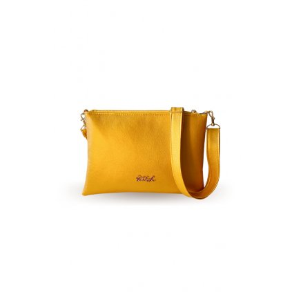 Malá žlutá crossbody kabelka