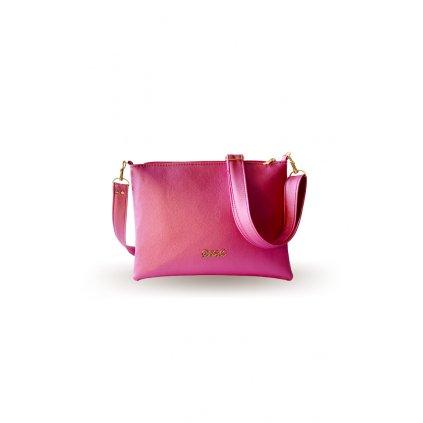 Malá růžová crossbody kabelka