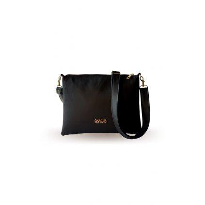 Malá černá crossbody kabelka