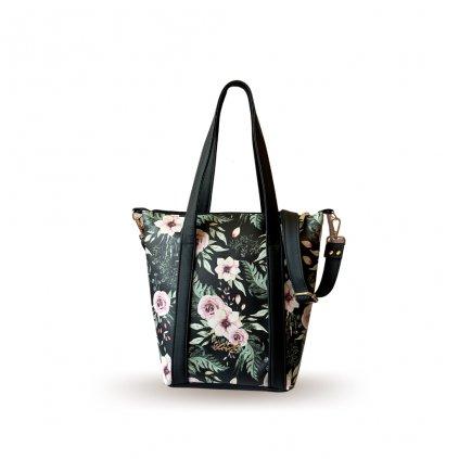 Květovaná crossbody kabelka