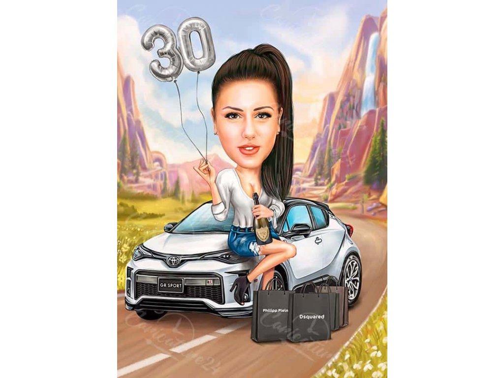karikatura za yubiley na zhena s kola