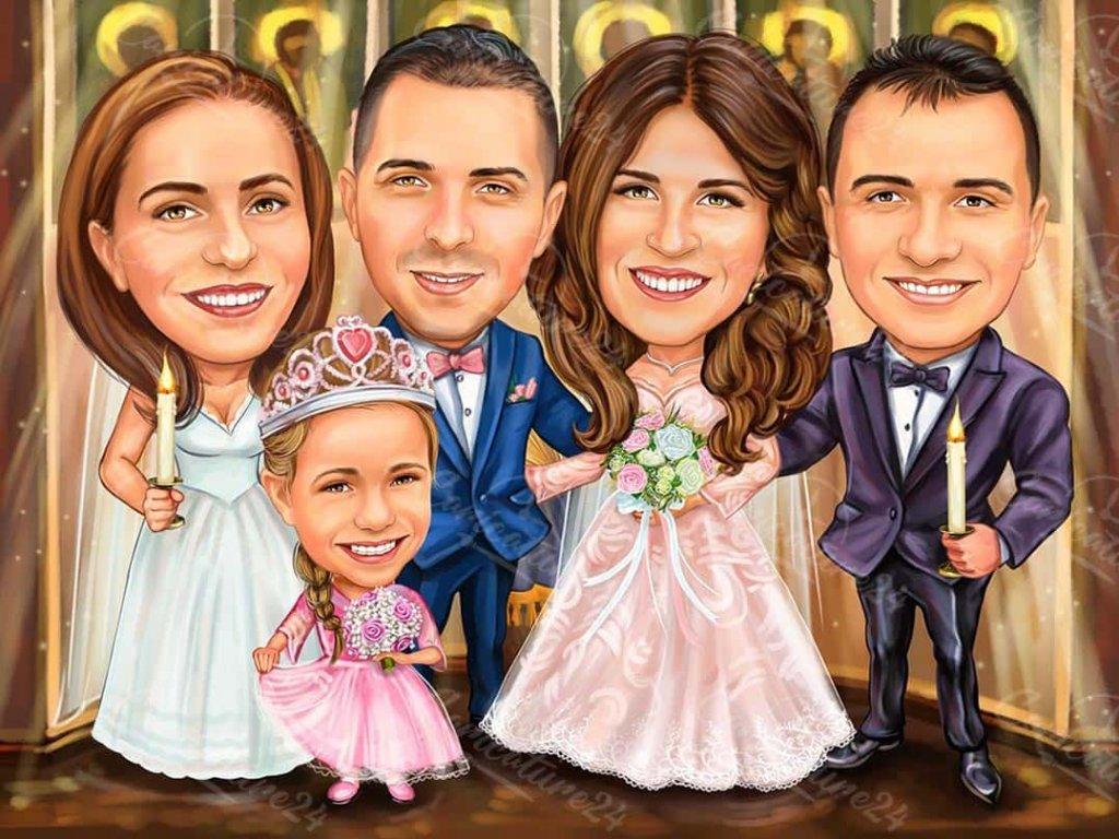 karikatura za svatba s kumove