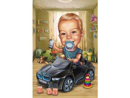 karikatura za bebe s kola