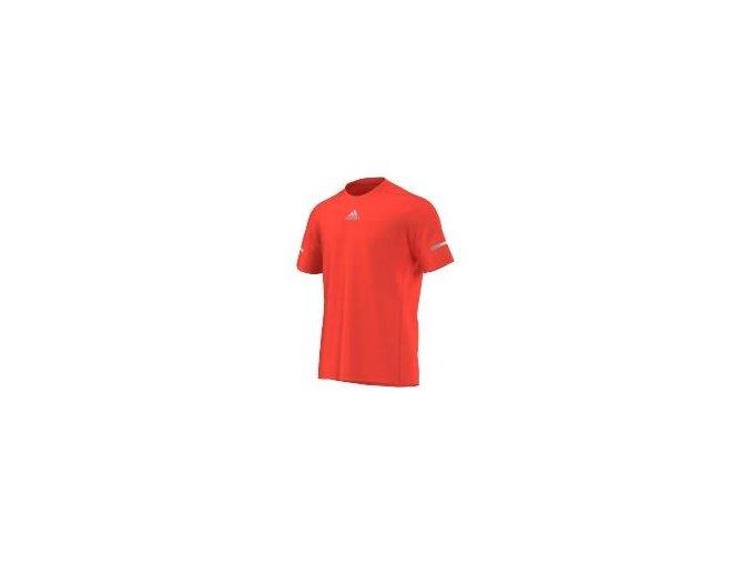 Adidas Run Tee Solar Red (Barva Červená, Velikost S)
