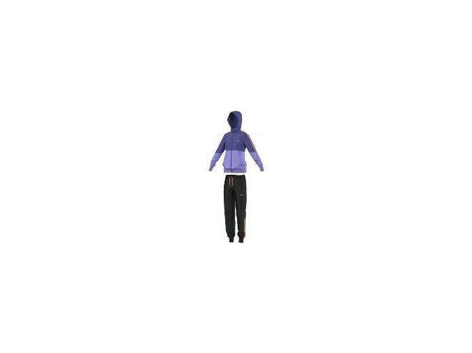 Adidas Separates Hooded Tracksuit (Barva Černá-Fialová, Velikost 152)