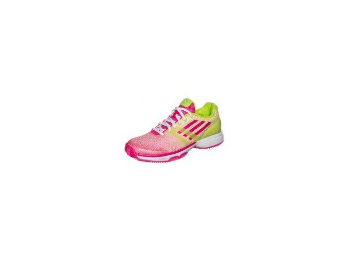 Adidas Ubersonic Clay (Barva pink/yellow, Velikost UK 8.5)