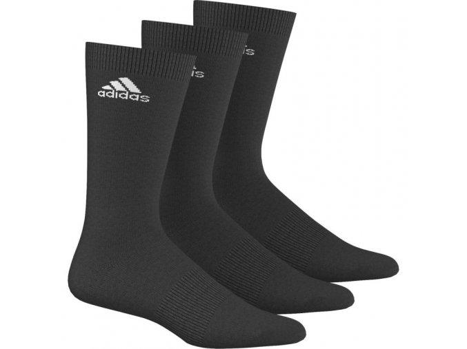 Adidas Crew 3P (Barva Černá, Ponožky velikost 43-46)