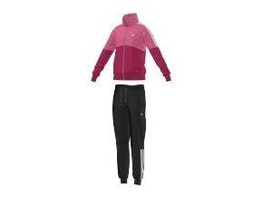 Adidas Separates Tracksuit (Barva Černá-Růžová, Velikost 164)