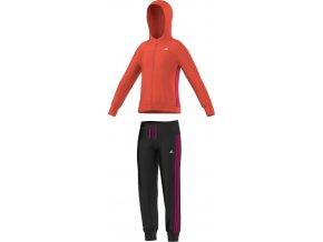 Adidas YG S HD PES TS (Barva Černá-Oranžová, Velikost 164)