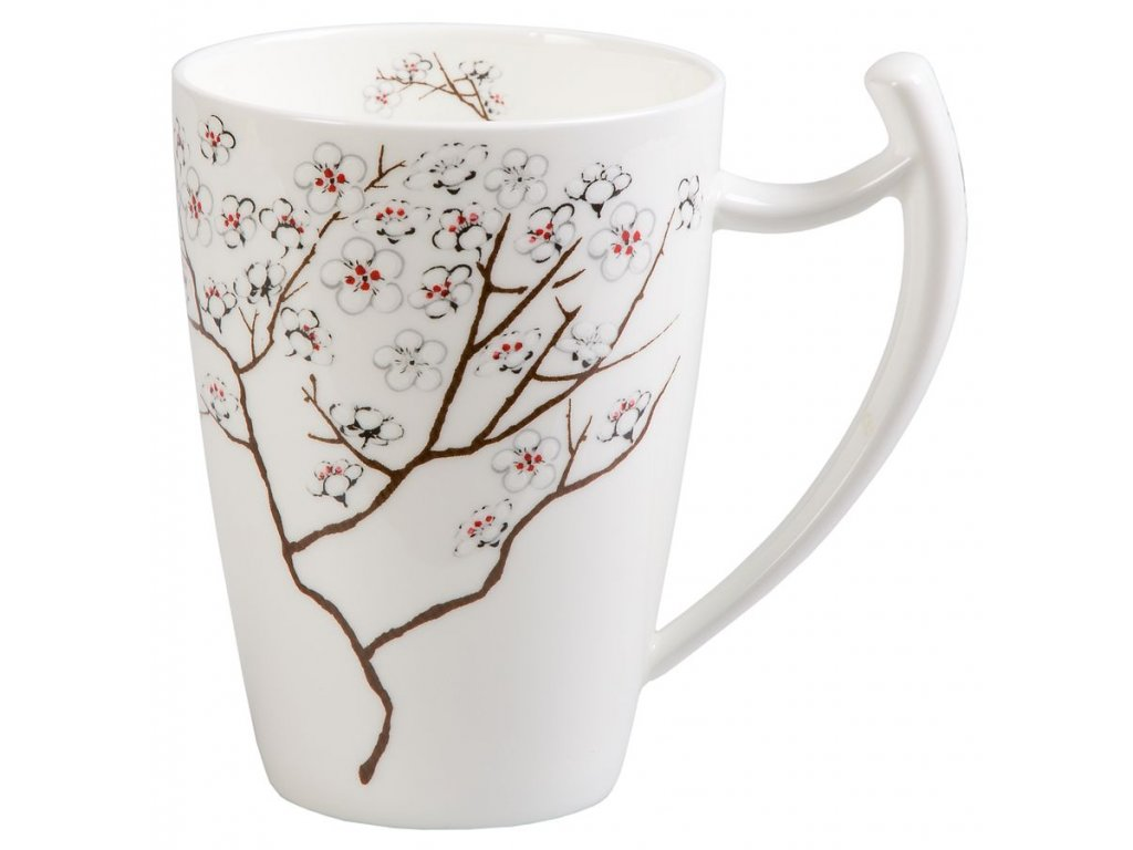 Bílá Třešeň  - fine bone china porcelánový hrnek 0,5 l