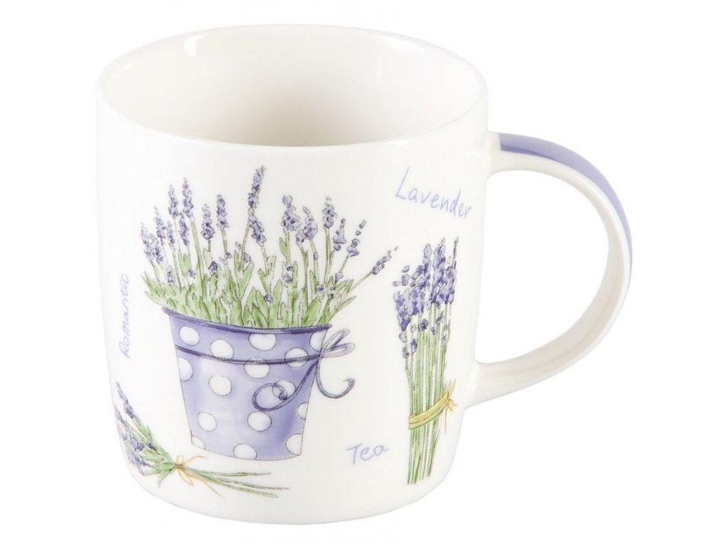 Lavendel  - porcelánový hrnek 0,25 l, motiv levandule